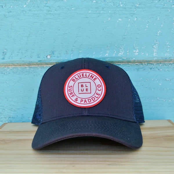 The Original Curved Heather Navy\Red