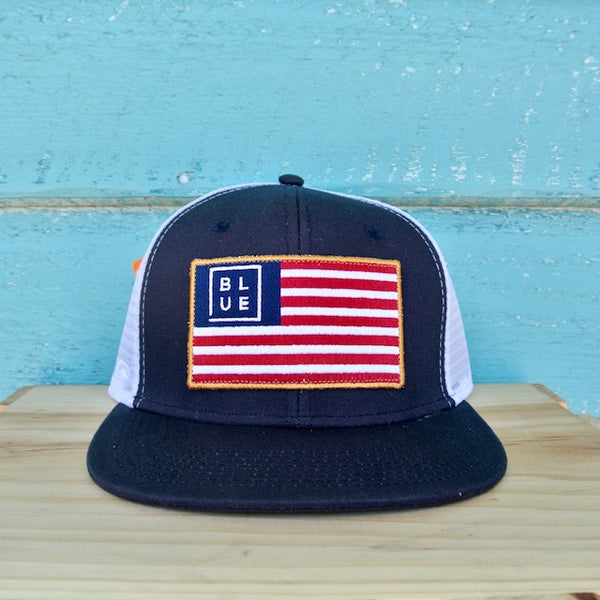 The USA Flag Flat Navy\White