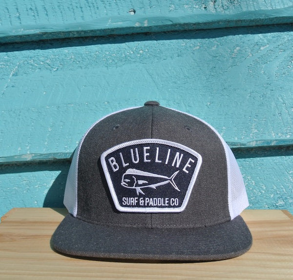 Flat Bill Mahi Hat Heather Charcoal\White