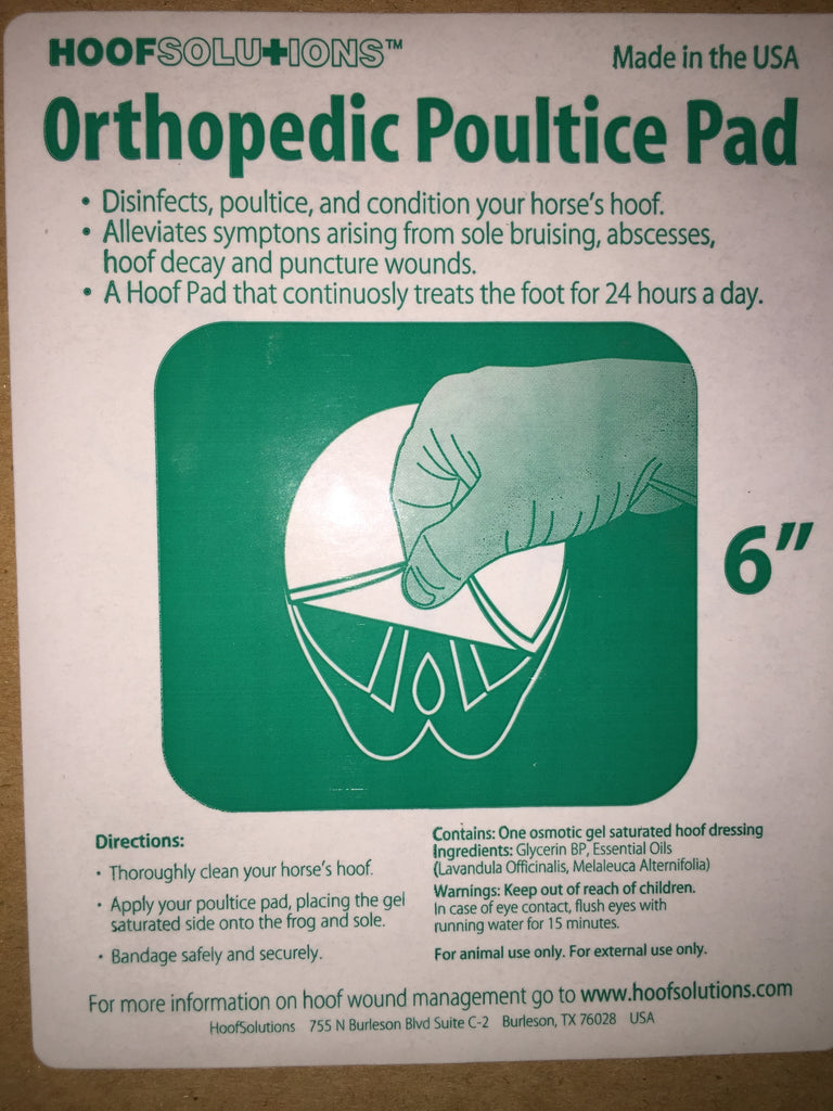 HoofSolutions Orthopedic Poultice Pad (Medicated)