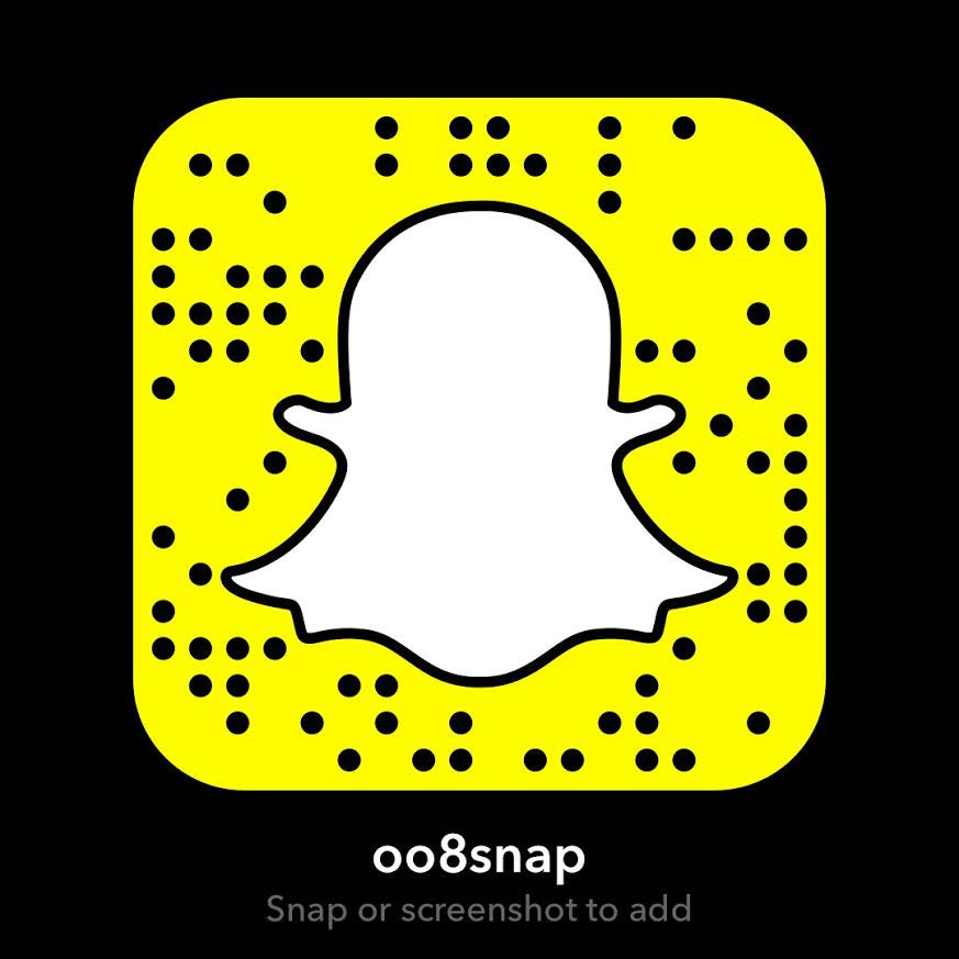 "Add -008' Sounds on snapchat: ""oo8snap"""