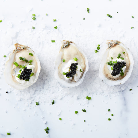 Oysters Crème with Caviar