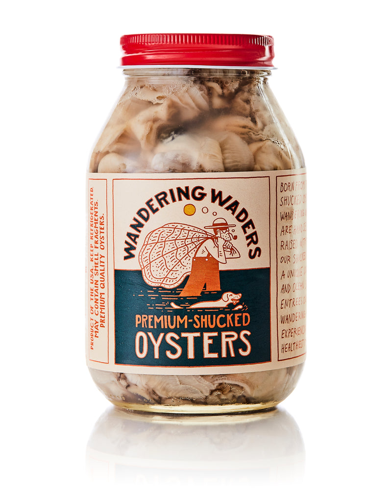 Load image into Gallery viewer, Wandering Waders Jarred Oysters 3Qt Pack