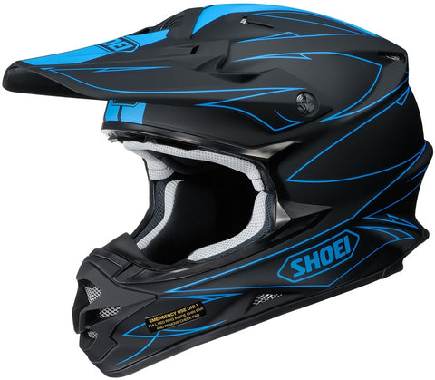 2017 Shoei VFX-W Motocross Enduro Helmet - Hectic Black Blue
