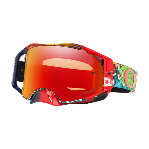 Oakley Airbrake Jeffery Herlings SS19.1 MX Goggle Adult (Graffito RWB Red) Prizm Torch Irdium Lens