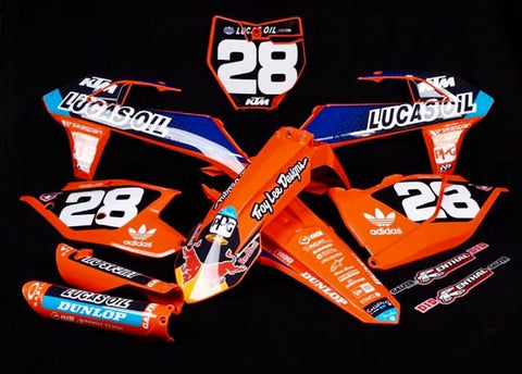 KTM LUCAS OIL TEAM DECAL GRAPHICS STICKER KIT
