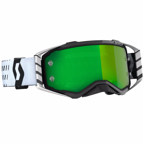 SCOTT PROSPECT GOGGLE black/white / green chrome works