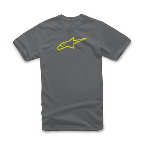 Alpinestar Ageless Classic Casual Tee - Charcoal Yellow