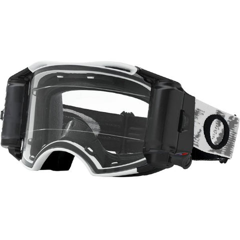 Oakley Airbrake Clear Lens Roll Off Goggles - Matte White Speed
