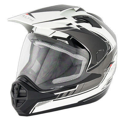 STEALTH HD-009 DUAL SPORT BLACK/WHITE
