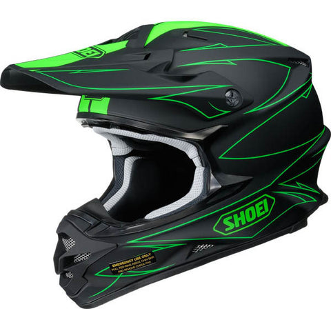 2017 Shoei VFX-W Motocross Enduro Helmet - Hectic Black Green