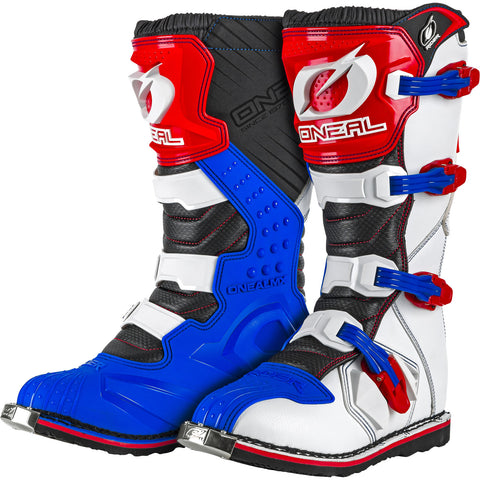 Oneal Rider Motocross Boots - Blue Red White