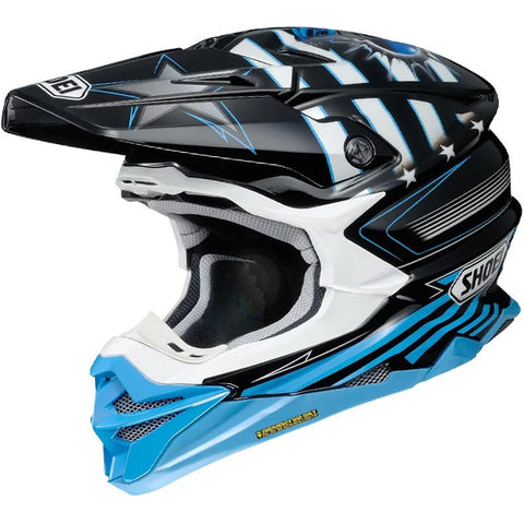 2018 Shoei VFX-WR Helmet - Grant3 Black Blue TC2