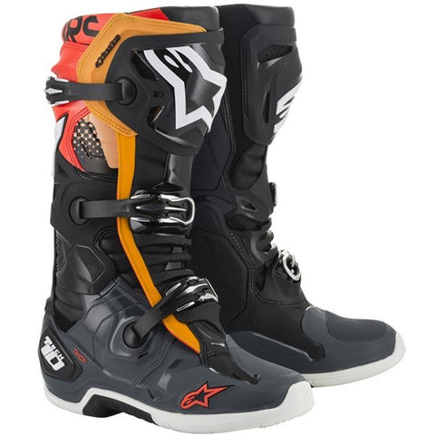Alpinestars Tech 10 Black Grey Orange Red Fluo Boots