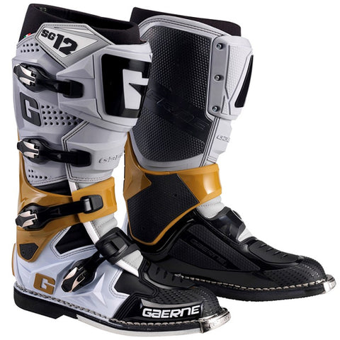 Gaerne SG12 Motocross Boots - Grey Magnesium White Limited Edition