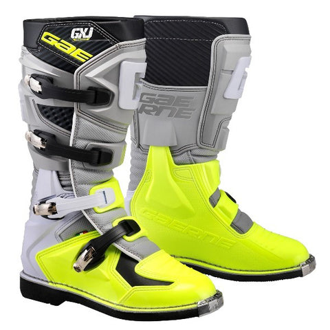 Gaerne GXJ Kids Motocross Boots - Grey Flo Yellow