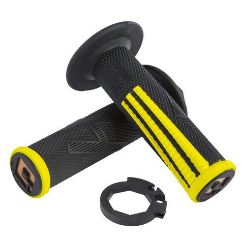 ODI EMIG Pro V2 Lock On Motocross Enduro Grips - Yellow Black