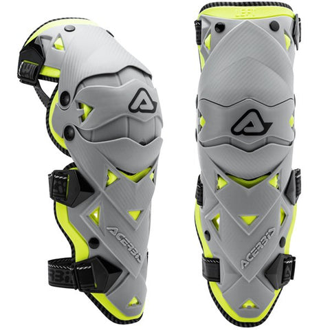 Acerbis Impact Evo 3.0 Knee Guards - Grey Yellow