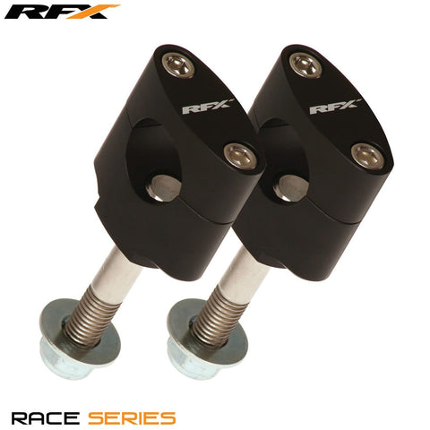 RFX Race Handlebar Mount Kit 22.2mm (Black) Honda CR125/250 97-07 CRF250/450 02-15 Kawasaki Pre 08