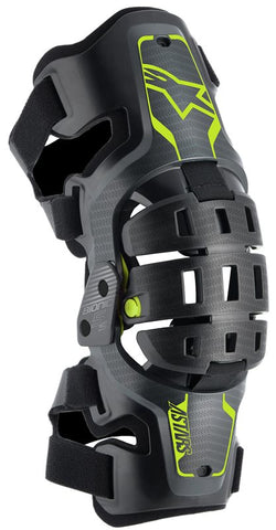 Alpinestars Bionic 5S Youth Kids Knee Brace - Black Flo Yellow