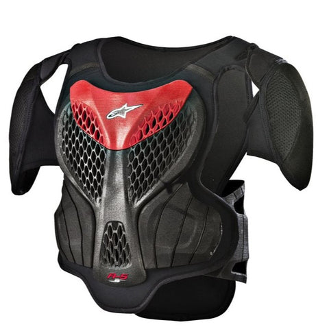 Alpinestars A-5S Youth Body Armour - Black/Red
