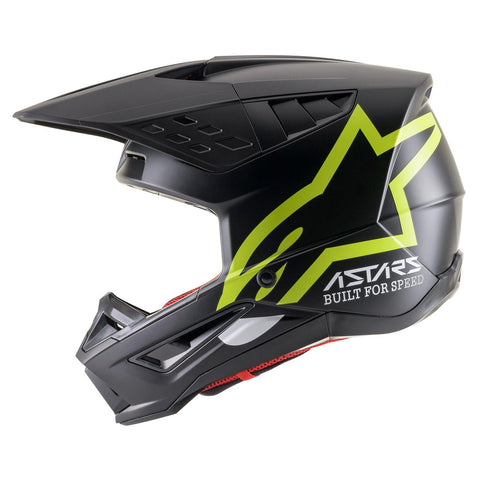 ALPINESTARS HELMET SUPERTECH SM5 COMPASS BLACK/YELLOW