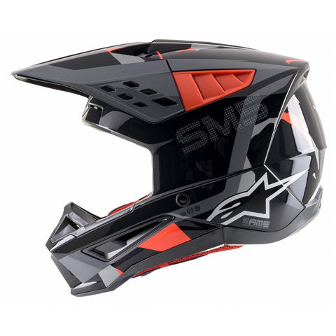ALPINESTARS HELMET SUPERTECH SM5 ROVER ANTHRACITE/ORANGE