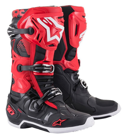 ALPINESTARS TECH 10 BOOT RED/BLACK