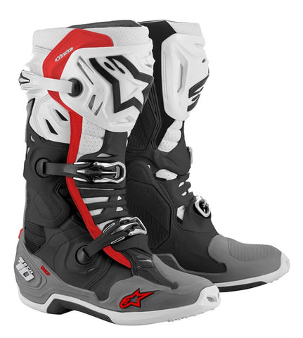 ALPINESTARS TECH 10 SUPERVENTED BOOTS BLACK/GREY/RED