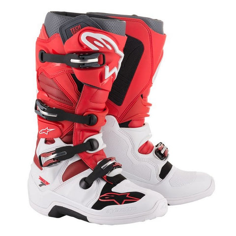 ALPINESTARS TECH 7 BOOT WHITE/RED/BURGUNDY