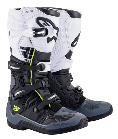 ALPINESTARS TECH 5 BOOT BLACK/GREY/WHITE