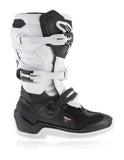 ALPINESTARS TECH 7S YOUTH KIDS BOOTS - BLACK WHITE