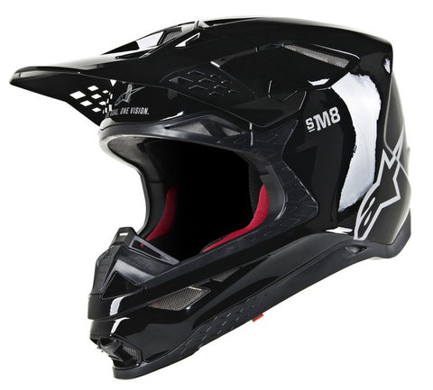 ALPINESTARS HELMET SUPERTECH S-M8  SOLID GLOSS BLACK