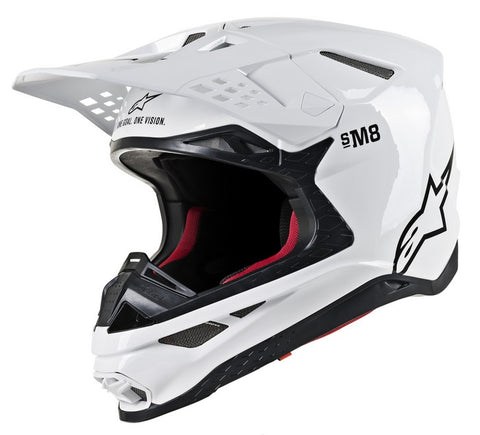 ALPINESTARS HELMET SUPERTECH S-M8  SOLID GLOSS WHITE