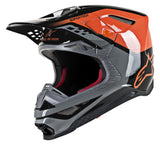 ALPINESTARS HELMET SUPERTECH S-M8  TRIPLE GLOSS ORANGE/MID GREY/BLACK