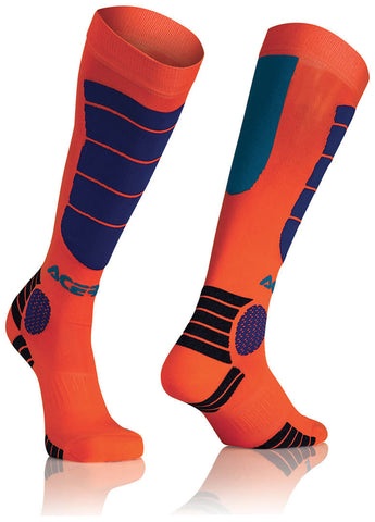 Acerbis MX Impact Socks - Orange Blue