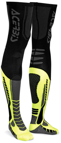 Acerbis X-Leg Pro Knee Brace Socks - Black Yellow