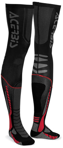 Acerbis X-Leg Pro Knee Brace Socks - Black Red