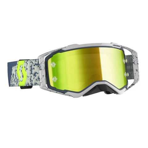 SCOTT PROSPECT GOGGLE grey/dark grey / yellow chrome works