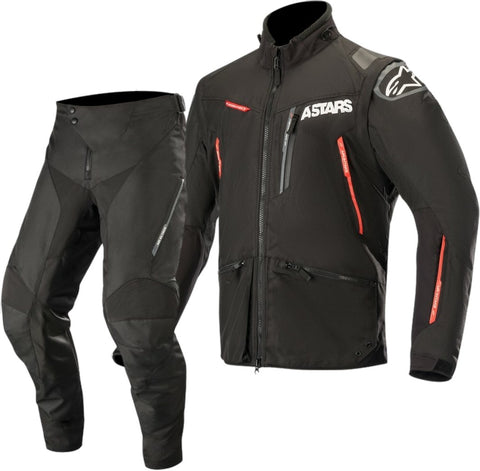 Alpinestars Venture R Enduro Gear Pants & Jacket BLACK RED