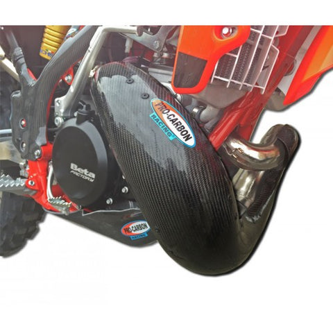 PRO CARBON BETA EXHAUST GUARD - 2 STROKE STANDARD PIPE