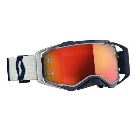 SCOTT PROSPECT GOGGLE grey/dark blue / orange chrome works