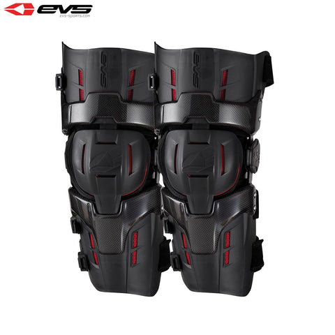 EVS RS9 Pro Knee Braces Adult Black/Red (Optional Sizes)