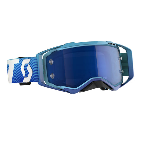 SCOTT PROSPECT GOGGLE  blue/white / electric blue chrome works