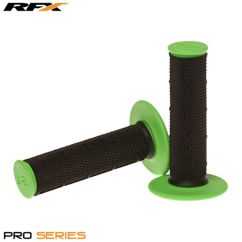 RFX Pro Series 20100 Dual Compound Grips Black Centre (Black/Green) Pair
