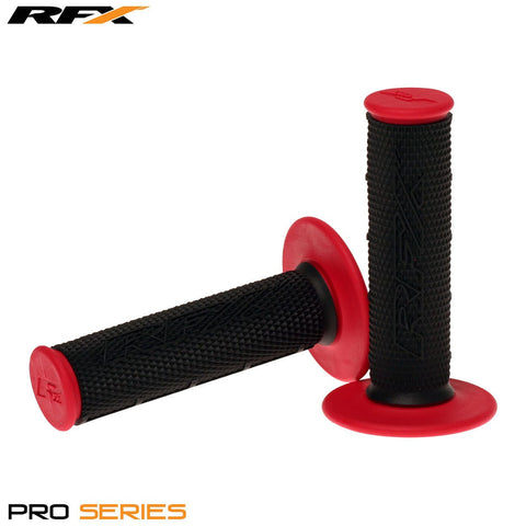 RFX Pro Series 20100 Dual Compound Grips Black Centre (Black/Red) Pair