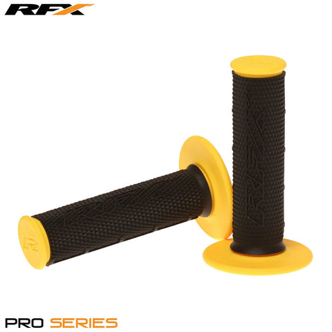 RFX Pro Series 20100 Dual Compound Grips Black Centre (Black/Yellow) Pair