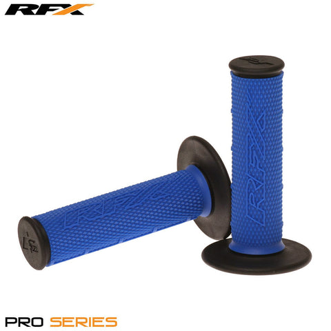 RFX Pro Series 20200 Dual Compound Grips Black Ends (Blue/Black) Pair