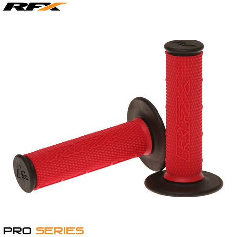 RFX Pro Series 20200 Dual Compound Grips Black Ends (Red/Black) Pair