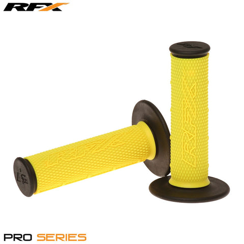 RFX Pro Series 20200 Dual Compound Grips Black Ends (Yellow/Black) Pair